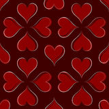 Hearts Pattern. Multiple Hearts Seamless Pattern Illustration Stock Image
