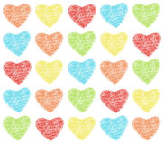 Hearts pattern. Pattern from many colour hearts Stock Photography