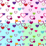 Hearts_pattern_4 Stock Fotografie