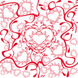 Hearts pattern stock illustration