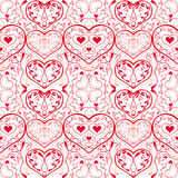 Hearts pattern. That matches from all sides stock illustration