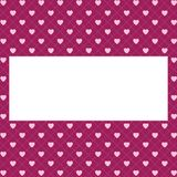 Hearts pattern background with frame for text. Valentine`s day and Mother`s day greeting card with border Banner, invitation