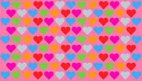Hearts Pattern royalty free stock photo