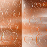 Hearts   pattern. Colorfull pattern   bokeh   layers  pattern background effect Royalty Free Stock Photo