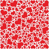 Hearts Pattern, Happy Valentines day. Hearts Pattern and Card - Happy Valentines day Stock Photography