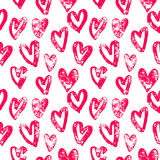 Hearts pattern red icons for Valentine day art Stock Photos