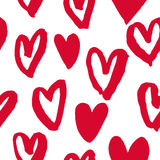 Hearts pattern red icons for Valentine day art Stock Photo