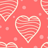 Hearts pattern. Romantic pattern with hand drawn hearts Royalty Free Stock Image