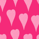 Hearts pattern. Romantic pink seamless pattern, hand drawn hearts Stock Images