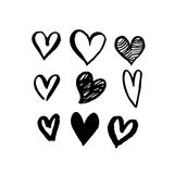 Hearts pattern for Saint Valentine Day vector sketch Stock Image