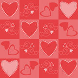 Hearts pattern seamless Royalty Free Stock Photo