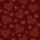 Hearts Pattern. Hearts seamless pattern for Valentine day Royalty Free Stock Photography