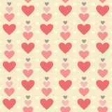 Hearts pattern Royalty Free Stock Photos