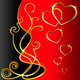 Hearts Pattern Shows Valentine Day And Background Royalty Free Stock Photography