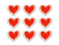 Hearts pattern stock illustration