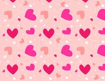 Hearts pattern /Textile design. Cute colorful hearts pattern / fabric and textile pattern Stock Photography