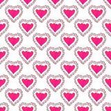 Hearts pattern Stock Image