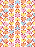 Beautiful hearts pattern Royalty Free Stock Photos