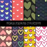Hearts Patterns Collection royalty free stock photos
