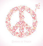 Hearts of peace. Royalty Free Stock Photos