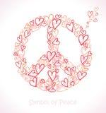 Hearts of peace. Royalty Free Stock Photos
