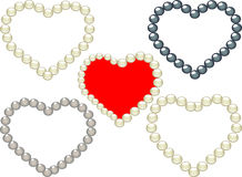 Free Hearts Pearls Royalty Free Stock Photography - 7901767