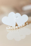 Hearts and pearls Royalty Free Stock Photo