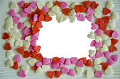 Hearts for photo frame. Royalty Free Stock Photography