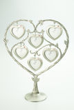 Hearts photo frame. Six hearts photo frame on white background Stock Photos