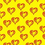 Hearts, pictogram, seamless Royalty Free Stock Photography