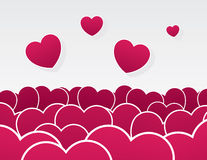 Hearts Pile Stock Image