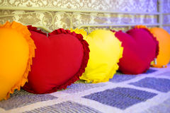 Hearts pillows Royalty Free Stock Photography