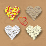 Hearts from pills Royalty Free Stock Photo
