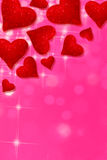Hearts on pink background Royalty Free Stock Photo