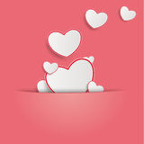 Hearts Pink Background Royalty Free Stock Image
