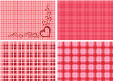 Hearts on pink background illustration stock photos