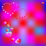 Hearts pink background Royalty Free Stock Photography