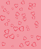 Hearts on a pink backgrounds Royalty Free Stock Photos