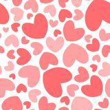 Heart shape seamless pattern vector illustration