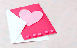 Hearts in pink on a light background Royalty Free Stock Photo