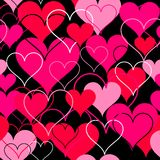 Hearts pink seamless Background. Vector Royalty Free Stock Image