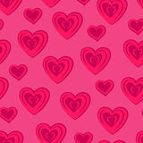 Hearts. Pink seamless pattern. For Valentine`s day. Vector illustration vector illustration