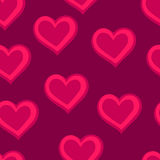 Hearts. Pink seamless pattern. For Valentine`s day. Vector illustration stock illustration