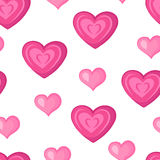 Hearts. Pink seamless pattern. For Valentine`s day. Vector illustration royalty free illustration