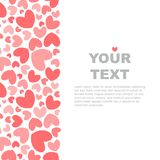Pink hearts banner template royalty free illustration