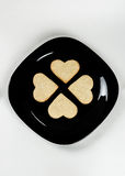 Hearts on a plate III royalty free stock photos