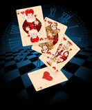Hearts Play Cards Royalty Free Stock Photography