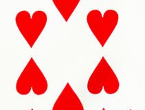 Hearts playing card Stock Photos