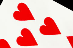 Hearts playing card Royalty Free Stock Photos