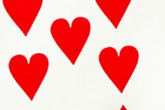 Hearts playing card Royalty Free Stock Photography